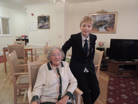 Pupils bring Christmas cheer to residents