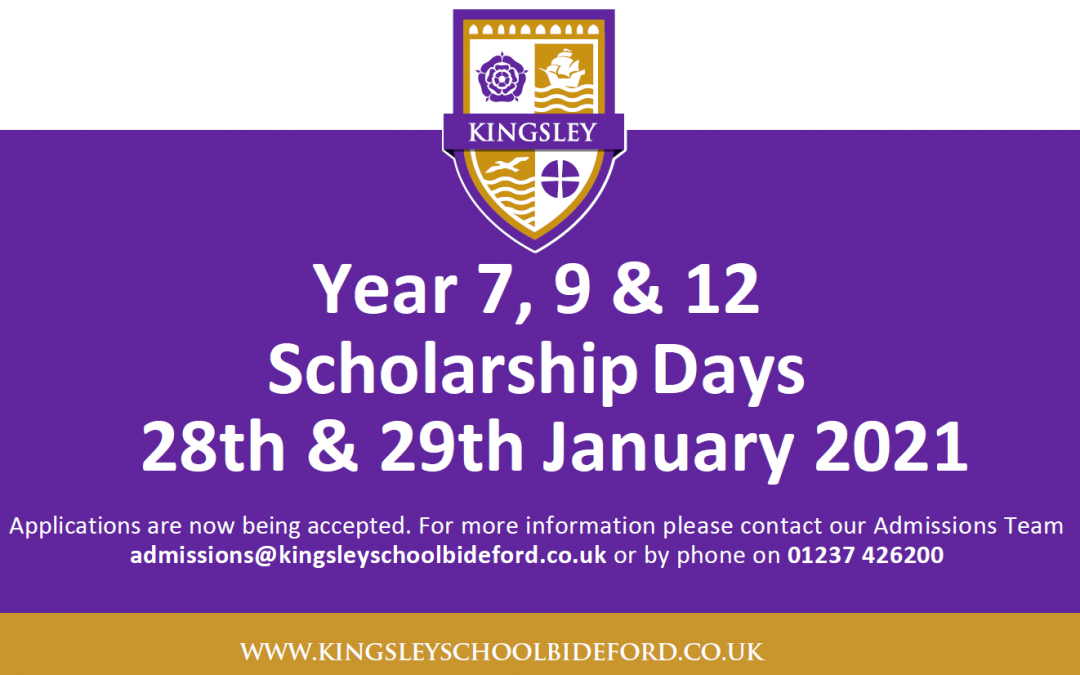 Kingsley School Bideford Scholarship Days – 28th & 29th January 2021